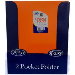 "48 Units of Orange Plastic 2 Pocket Folders - 9.5"" X 11.5"" - Folders & Portfolios"