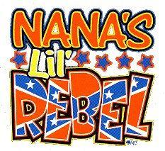 24 Wholesale Nana's Lil' Rebel White Shirts