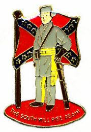 """96 Units of Brass Hat Pin, """"the South Will Rise Again"""" - Hat Pins & Jacket Pins"""
