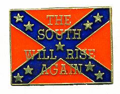 """96 Units of Brass Hat Pin, Rebel Flag, """"the South Will Rise Again"""" - Hat Pins & Jacket Pins"""