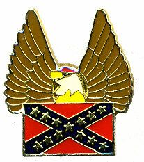 96 Units of Brass Hat Pin, Rebel Flag, With/ Eagl - Hat Pins & Jacket Pins