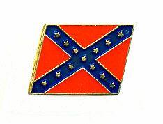 96 Units of Brass Hat Pin, Rebel Flag - Hat Pins & Jacket Pins