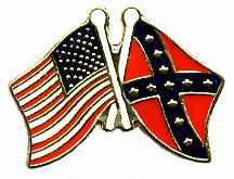 96 Units of Brass Hat Pin, Rebel, Us Flags - Hat Pins & Jacket Pins