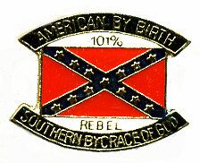 """96 Units of Brass Hat Pin, """"american By Birth, Southern By The Grace Of God - 101% Rebel"""" - Hat Pins & Jacket Pins"""
