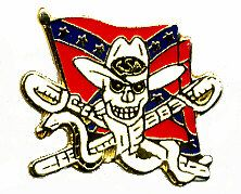96 Units of Brass Hat Pin, Rebel Flag W/skull And Snake - Hat Pins & Jacket Pins