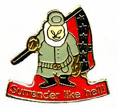 """96 Units of Brass Hat Pin, """"surrender Like Hell!"""" - Hat Pins & Jacket Pins"""