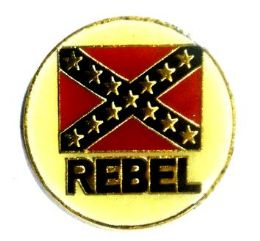 """96 Units of Brass Hat Pin, """"rebel"""" With/ Rebel Flag - Hat Pins & Jacket Pins"""