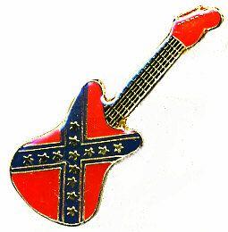 96 Units of Brass Hat Pin, Rebel Guitar - Hat Pins & Jacket Pins
