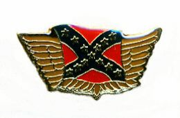 96 Units of Brass Hat Pin, Rebel Flag With/ Wings - Hat Pins & Jacket Pins