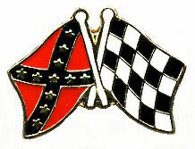96 Units of Brass Hat Pin; Rebel, Checkered Flags - Hat Pins & Jacket Pins