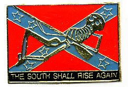 """96 Units of Brass Hat Pin, """"the South Shall Rise Again"""", Rebel Flag With Skeleton - Hat Pins & Jacket Pins"""