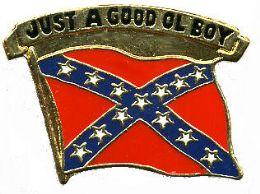 "96 Units of Brass Hat Pin, ""just A Good Ol' Boy,"" Rebel Flag - Hat Pins & Jacket Pins"