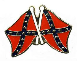 96 Units of Brass Hat Pin, Crossed Rebel Flags - Hat Pins & Jacket Pins
