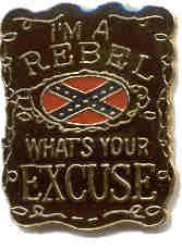 """96 Units of Brass Hat Pin, """"i'm A Rebel, What's Your Excuse? - Hat Pins & Jacket Pins"""
