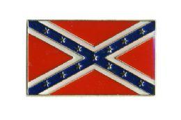 96 Units of Brass Hat Pin, Rebel Flag, - Hat Pins & Jacket Pins