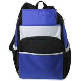 24 Wholesale Blue Color Block Diaper BackpacK- 17 Inch