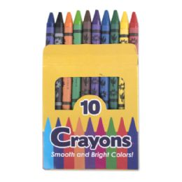 96 Wholesale 10 Pack Of Crayons