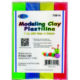 24 Units of Modeling Clay 4 Pack - Clay & Play Dough