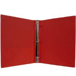 """24 Bulk 1"""" Hard Cover (pvc Free) 3-Ring Binder - Red"""
