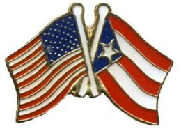 96 Units of Brass Hat Pin, Us & Puerto Rico Flags - Hat Pins & Jacket Pins