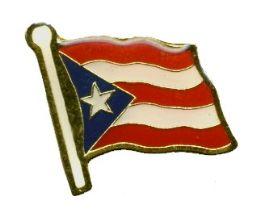 96 Units of Brass Hat Pin, Puerto Rico Flag - Hat Pins & Jacket Pins