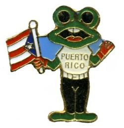 96 Units of Brass Hat Pin, Frog And Puerto Rico Flag - Hat Pins & Jacket Pins