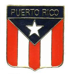 96 Units of Brass Hat Pin, Puerto Rico Shield - Hat Pins & Jacket Pins