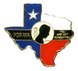 96 Wholesale Brass Hat Pin, Texas / Pow