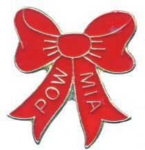 96 Wholesale Brass Hat Pin, PoW-Mia Red Ribbon