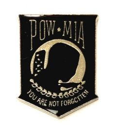 """96 Wholesale Metal Hat Pin, """"poW-Mia You Are Not Forgotten"""""""
