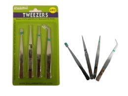 144 Bulk 4 Pc Tweezers