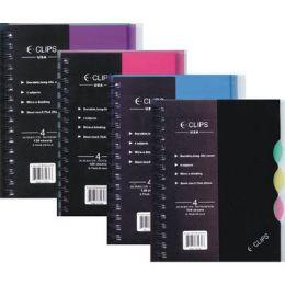 "48 Bulk Tuff Poly Note Book - 4 Subject - 5"" X 8"""