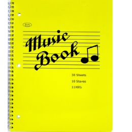 """48 Bulk Music Notebook, 60 Pages, 11"""" X 8.5"""""""