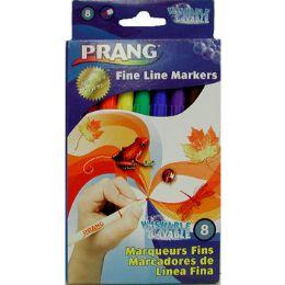 72 Bulk Washable Fine Line Markers - 8 Ct - Asst. Colors