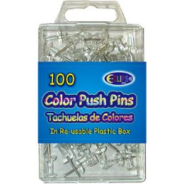 48 Wholesale 100 Count Clear Push Pins