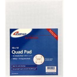 "50 Bulk Quad Pad, 8.5"" X 11"", 50 Sheets"