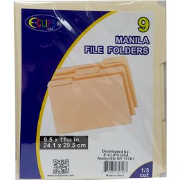 48 Units of Manila File Folders - 9 Pack - Folders & Portfolios