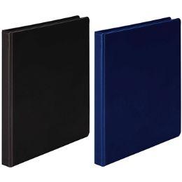 "12 Bulk 1/2"" Black And Blue Vinyl Binder"