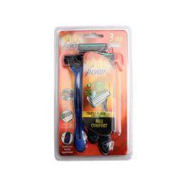 24 Units of 3pk Men's Razor [triple Blades] - Shaving Razors