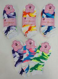72 Wholesale 3pr Ladies/teen Anklets 9-11 [camo]