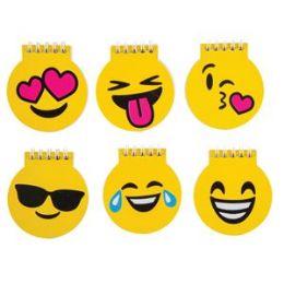 72 Bulk Emoji Spiral Notepad