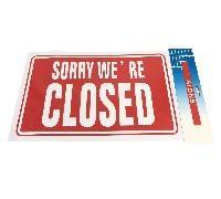 "72 Bulk 11.8""x7.9"" Sign [sorry We're Closed]"