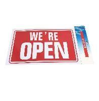 "72 Bulk 11.8""x7.9"" Sign [we're Open]"