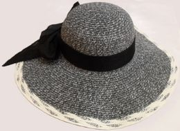 24 Wholesale Large Hat With Bow