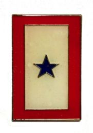 96 Wholesale Blue Star Service Flag Brass Hat Pin