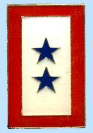96 Wholesale 2 Blue Star Service Flag Brass Hat Pinn