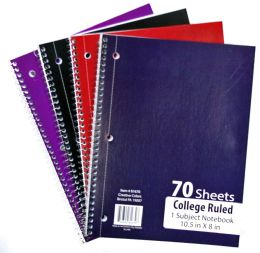 60 Bulk 1-Subject College Ruled School Notebooks - 70 Pages