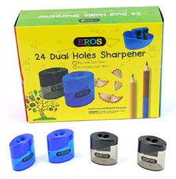 96 Bulk Dual Hole Sharpener With/ Round Receptacle
