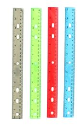 """240 Bulk 12"""" Clear Rulers - Choose Your Colors"""