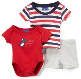 24 Units of Newborn Boy's Shorts, T-Shirt & Onesie Set - Dinosaur Prints - Sizes 3-12m - Newborn Boys Apparel